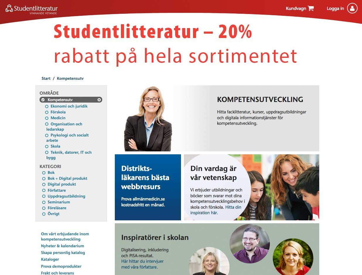 Studentlitteratur Rabatt