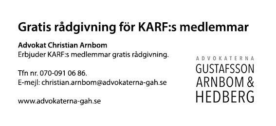Gratis rådgivning för KARF:s medlemmar