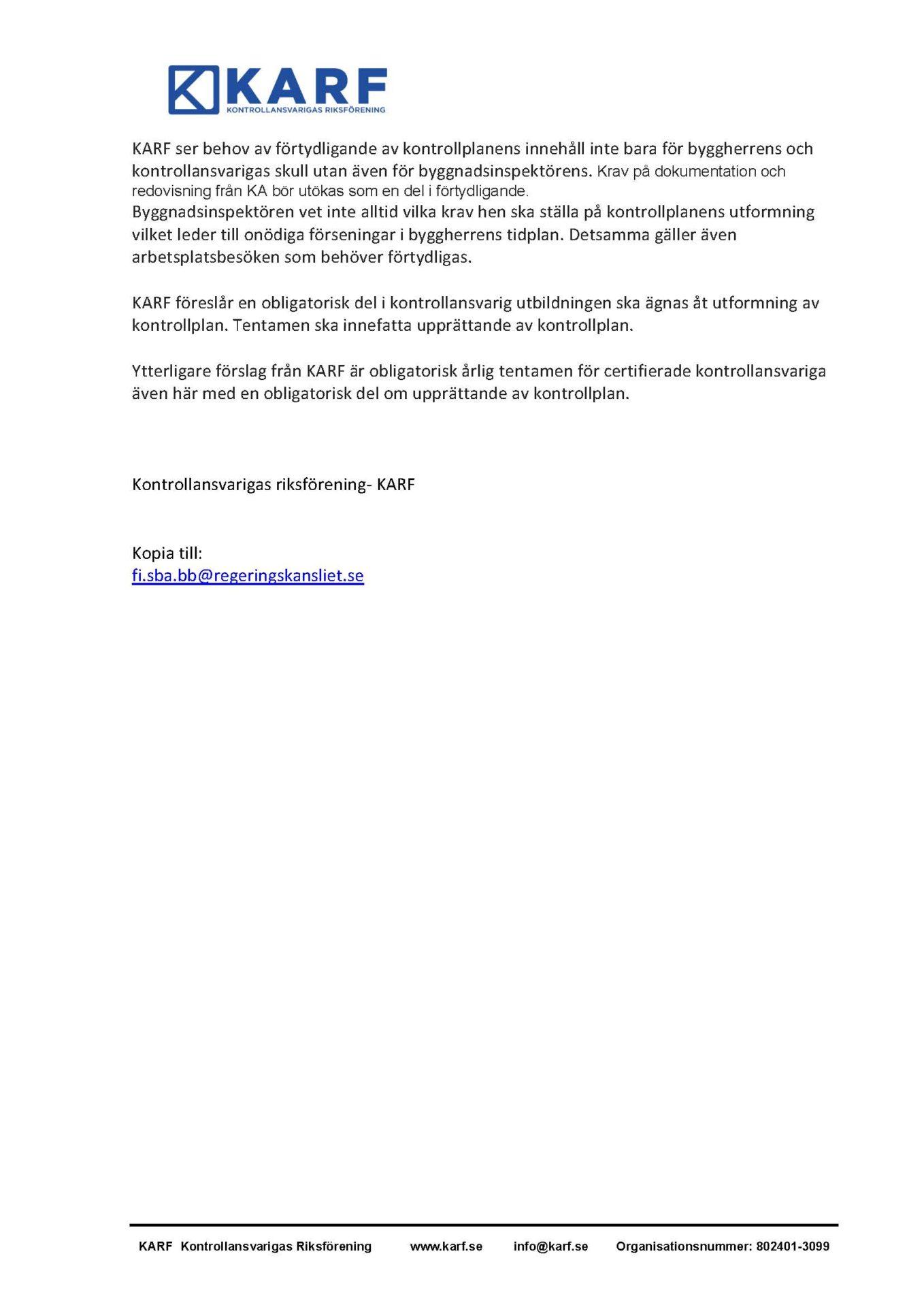KARF - Remissvar betänkandet_Sida_2
